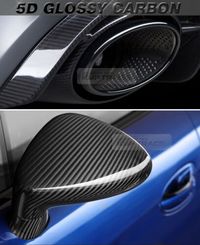 """Ultra Shiny High Glossy 5D Carbon Black Fiber Decal 4/""""x60/"""" for All Car"""