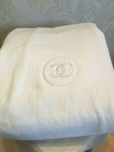 Stupendous Details About New Rare Giant Chanel White Cotton Towel For Bath Sauna Lounge Chair Machost Co Dining Chair Design Ideas Machostcouk