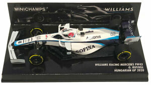 MINICHAMPS F1 1 43 Williams Fw43 Russell Hungarian GP 2020
