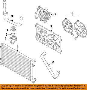 VW VOLKSWAGEN OEM 05-15 Jetta-Radiator Cooling Fan Blade 1K0959455FR