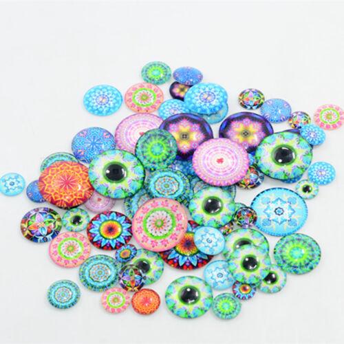 20pcs Craft Mixed Glass Flatback Scrapbooking Dome Cabochons Decoration 10-25mm