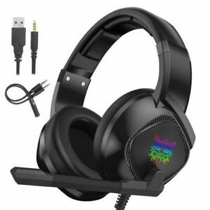 PRO-Gaming-Headset-PC-LED-3-5mm-Jack-K19-Onikuma-PS4-XBOX-Noise-Cancelling-MIC