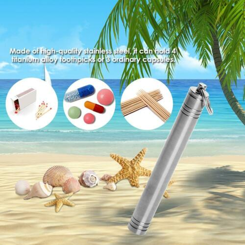 Titanium Alloy Toothpick Holder Storage Traveling Container Outdoor Waterproof