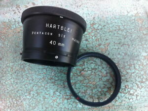 Hartblei-Pentacon-Six-6-Kiev-60-88CM-Macro-40mm-Ring-Adapter-Salut-Salyut-K-88