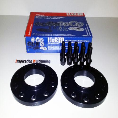 E34 20=2x10 mit Bolzen H/&R Spurverbreiterung DR schwarz für BMW 5//H ABE