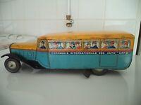 JOUET ANCIEN /  TRES TRES RARE AUTOCAR  ML 1930  / A VOIR  !!!!!