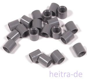 LEGO-Technik-20-x-Pin-Verbinder-Huelse-1x1x1-dunkelgrau-18654-NEUWARE