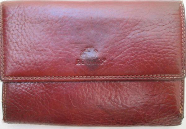 -authentique Portefeuille Rovari's Cuir Tbeg Vintage