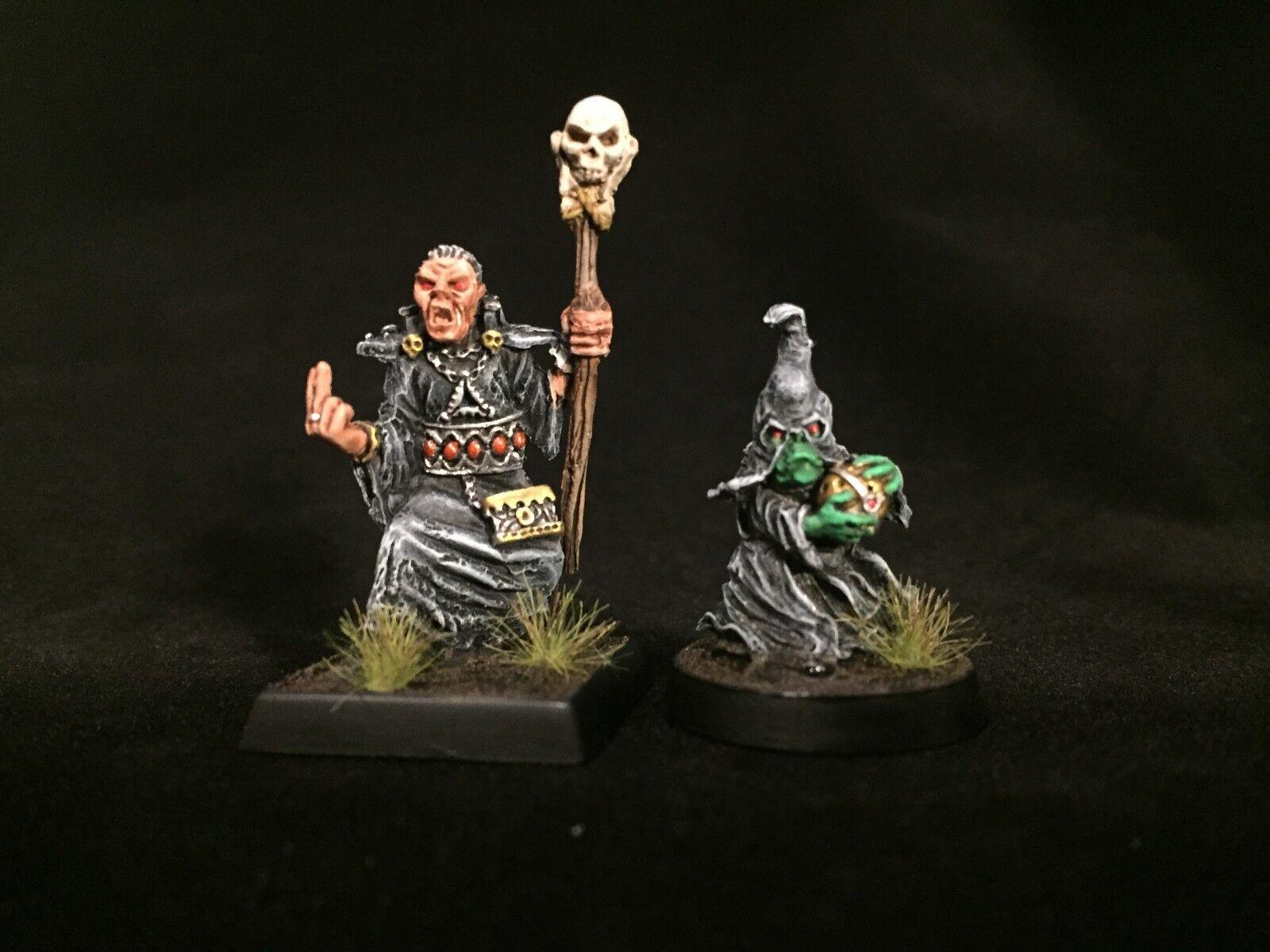 Pintado En Miniatura Nigromante y MINION Sidekick Lote Reaper D&D Pathfinder