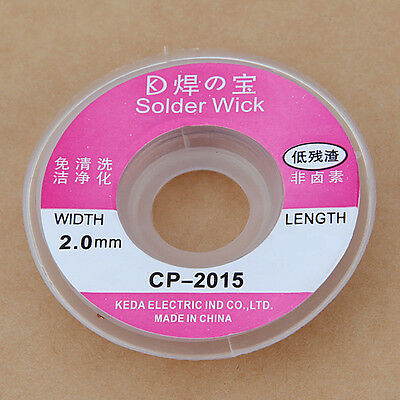 3.28 ft 1mx2mm Desoldering Braid Solder Remover Wick Wire Cable CP-2015