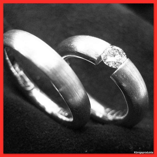 Freundschaftsringe,Verlobungsringe oder als Trauringe in 925er Silber 2 Ringe