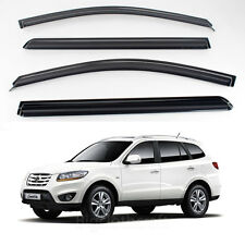 New Smoke Window Vent Visors Rain Guards for Hyundai Santa Fe 2006 - 2011