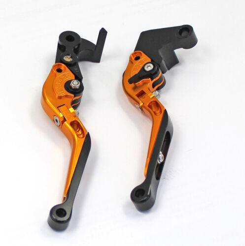 GOLD Adjustable CNC Folding Brake /& Clutch Levers KAWASAKI ER-6N 09//10//11//12