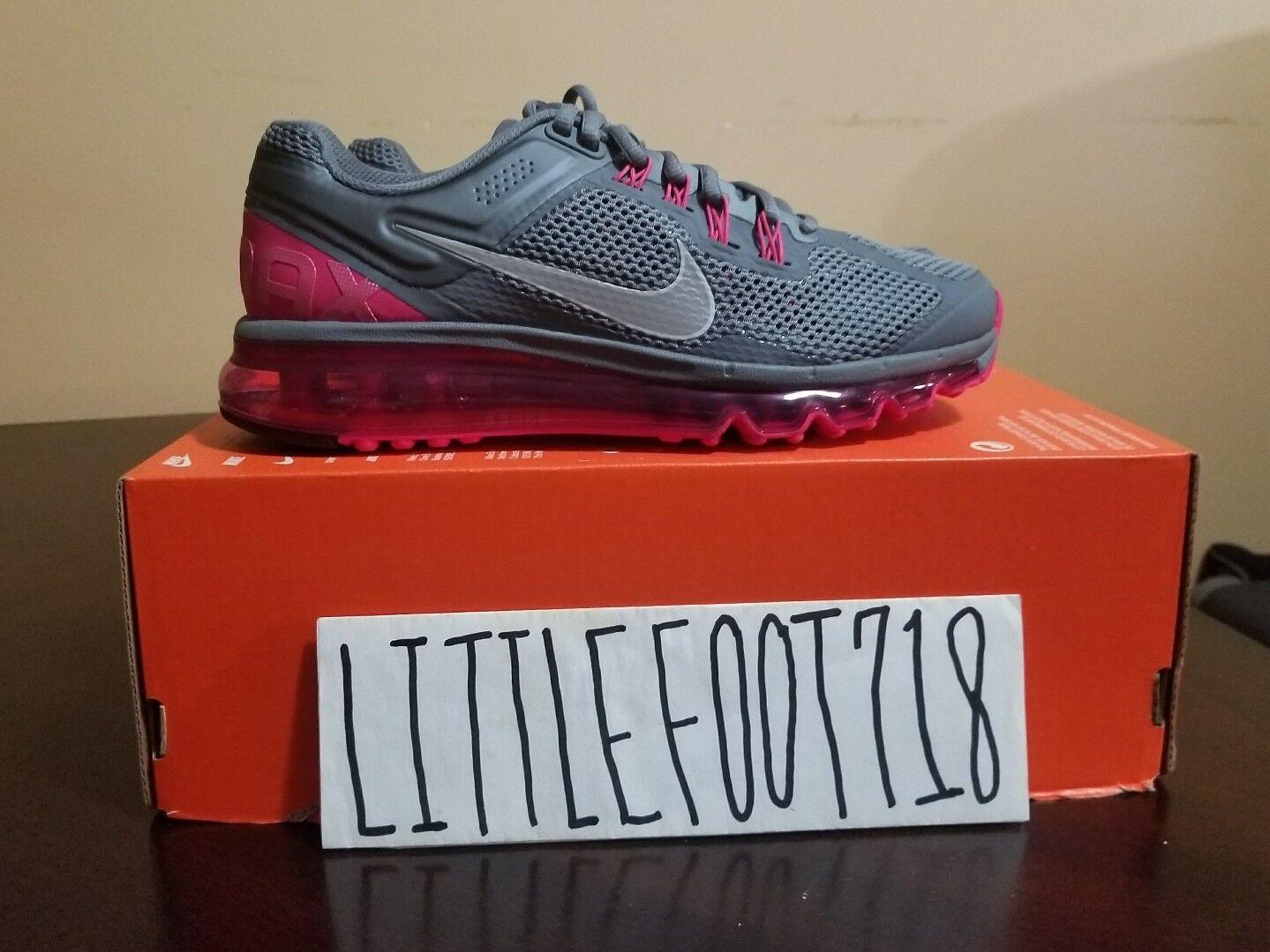 Nike Air Max 2013 (Cool Grey   Silver   Pink) RUNNING [555363-006] Womens