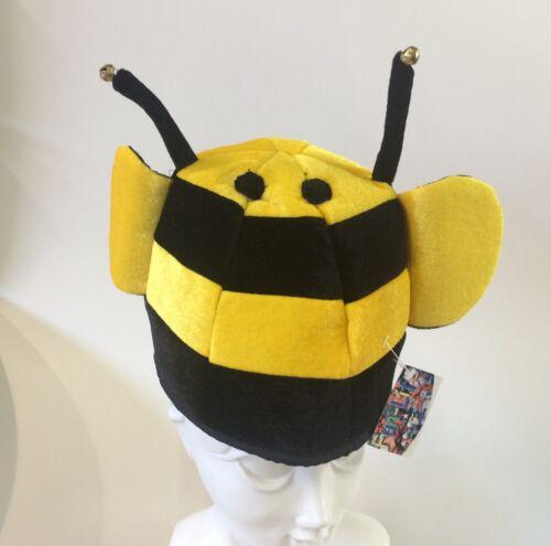 Velours chapeau abeille Casquette avec grelot carnaval