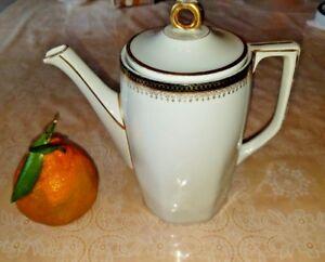 Details about ANTIQUE MZ AUSTRIA 1884-1909 dark cobalt gold coffee pot