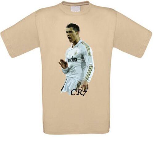 Ronaldo Madrid Portugal Fußball T-Shirt alle Größen NEU