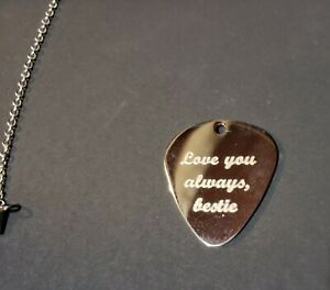 Double Side Custom Personalized Laser Engraved Stainless Steel Guitar Pick