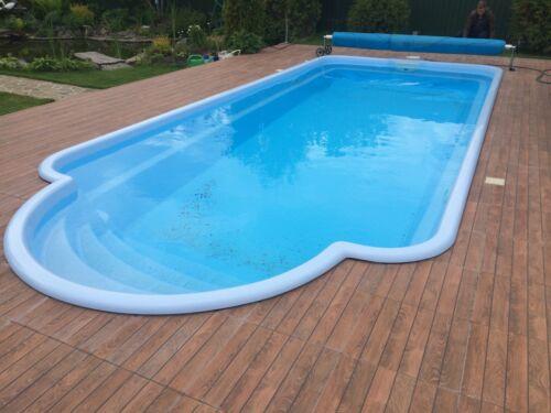GFK Schwimmbecken 8x3,2x1,5 Hersteller Einbaubecken GFK Pool Romische Treppen