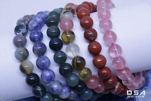 Bracelet-8mm-Handmade-Gemstone-Natural-Round-Beads-Stretch-Fashion-Jewelry