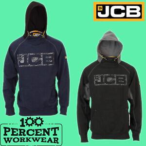 New-Genuine-JCB-Heavyweight-Hooded-Top-Hoodie-Hoody-Sweatshirt-Black-Navy-Blue