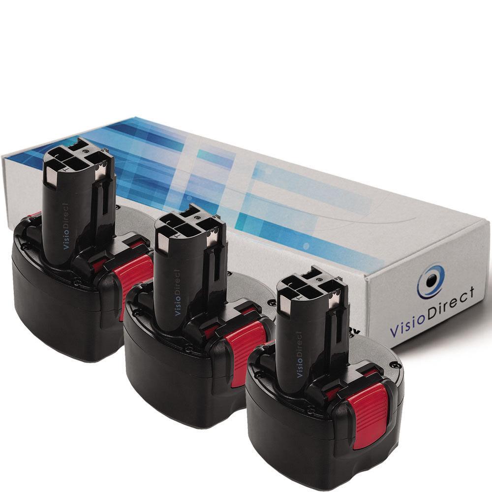 Lot de X3 batteries 9.6V 3000mAh pour BOSCH GSR 9.6-1 - Société Française -