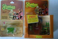Vintage 1980 Littles by Mattel Belinda & Kitchen Dollhouse Furniture Die-Cast