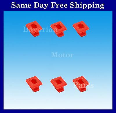 BMW Red Dash Trim Clip Grommet Inserts 6 X for E46 E65 E66 E83