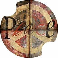 Thirstystone Peace Sign Car Cup Holder Coaster, 2-pack, New, Free Shipping on sale