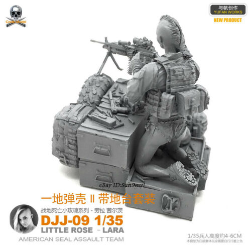 1//35 War hunter Lara Soldier with base Resin Kits GK Unpainted YUFAN MODEL