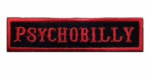 Psychobilly-Patch-Badge-Hot-Rod-Greaser-Kustom-Kulture-Motorcycle-Vest-Black-Red
