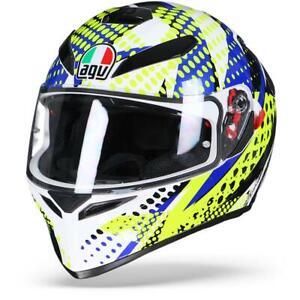 Agv K 3 Sv Pop White Blue Lime Full Face Motorcycle Helmet Free Shipping Ebay