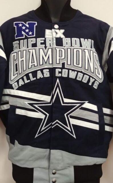 buy popular fe437 ad842 Dallas Cowboys 5 Time Super Bowl Jacket - Cotton Twill Adult 5XL Free Ship