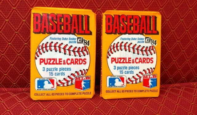 Lot of 2 - 1984 DONRUSS UNOPENED WAX PACKS!  Don Mattingly, Nolan Ryan, Ripken?