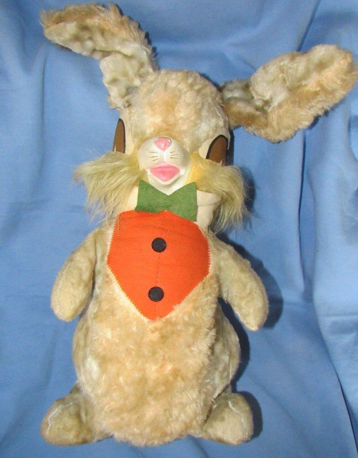 Vintage Raro 24  gran Felpa Cara De Goma Peter Conejo Brer Conejo Pascua Bunny