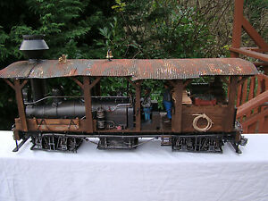 Logging-Steam-Locomotive-Shay-custom-weathered-handcrafted-lot-6-G-scale