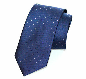 CRAVATTA-BLU-AZZURRA-pois-100-SETA-uomo-fatta-a-mano-elegante-tie-cerimonia-F85