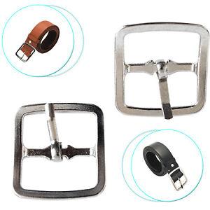 25mm-20mm-Silber-2pcs-Quadratisch-Metall-Schnallen-fuer-Leder-Craft-Guertel