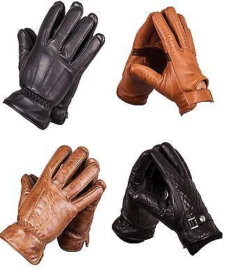 Damenlederhandschuhe Lederhandschuhe Damen Handschuhe  M XXL schwarz gesteppt