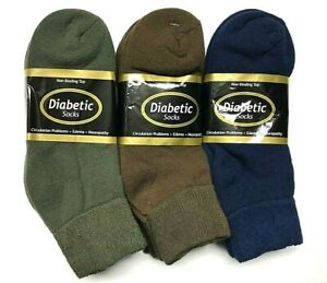 12 pair Ladies Non-Binding Top DIABETIC Mixed Colors Ankle Sock Size 9-11. 6