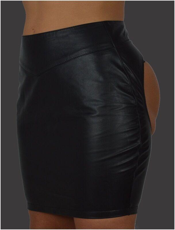 AW - 206 Real läder kjol, Läderskir Läder kjol från Lammdappa Gogo Klubwear kjol