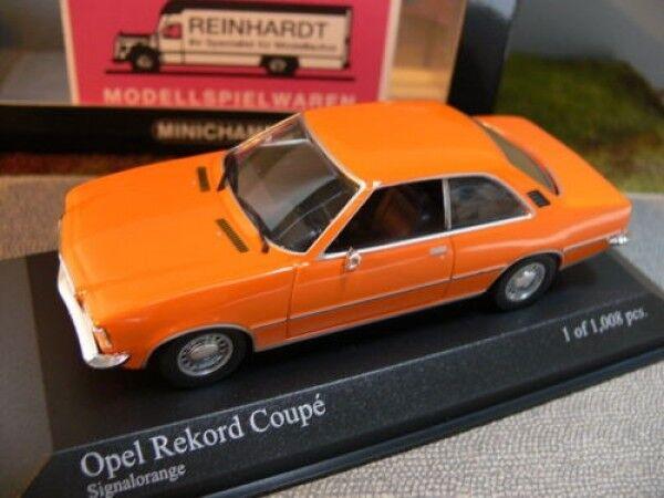 1 43 Minichamps Opel Rekord D Coupe 1975 signalorange 400 044024