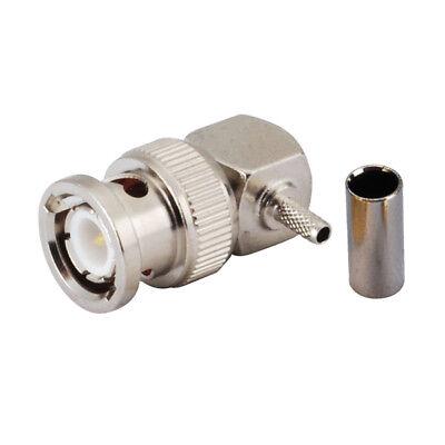 50pcs Connector SMA male plug 90° crimp RG174 RG316 LMR100 cable right angle