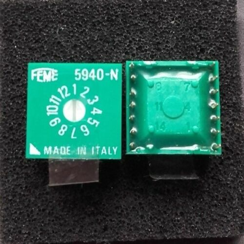 12 Position Rotary Dip Switch 5940-n Made in Italy