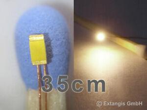 SMD LED 0603 SUNNY WHITE +Cu-Draht 35cm XL warm weiss white wit blanc chaude