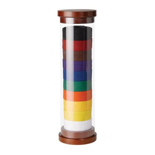 Cylinder Karate TaeKwonDo Belt Display (10 belts display) new