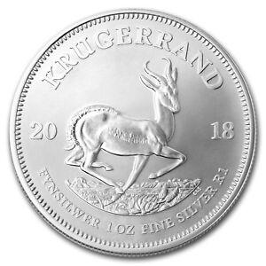 2018 South Africa 1 oz Silver Krugerrand BU - SKU#170332