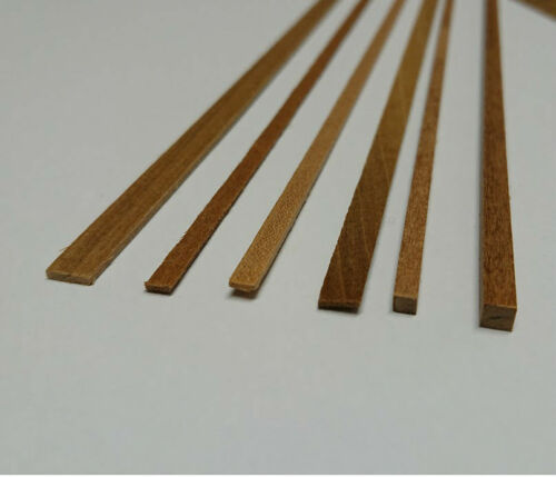 Walnut Wood Strip length 1m choice of sizes Ideal for Model Boat Hull Planking