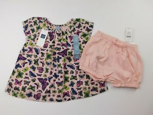 NWT-Gap-Baby-Girl-039-s-2-Pc-Outfit-Lined-Top-Bubble-Shorts-6-12M-12-18M-18-24M-New