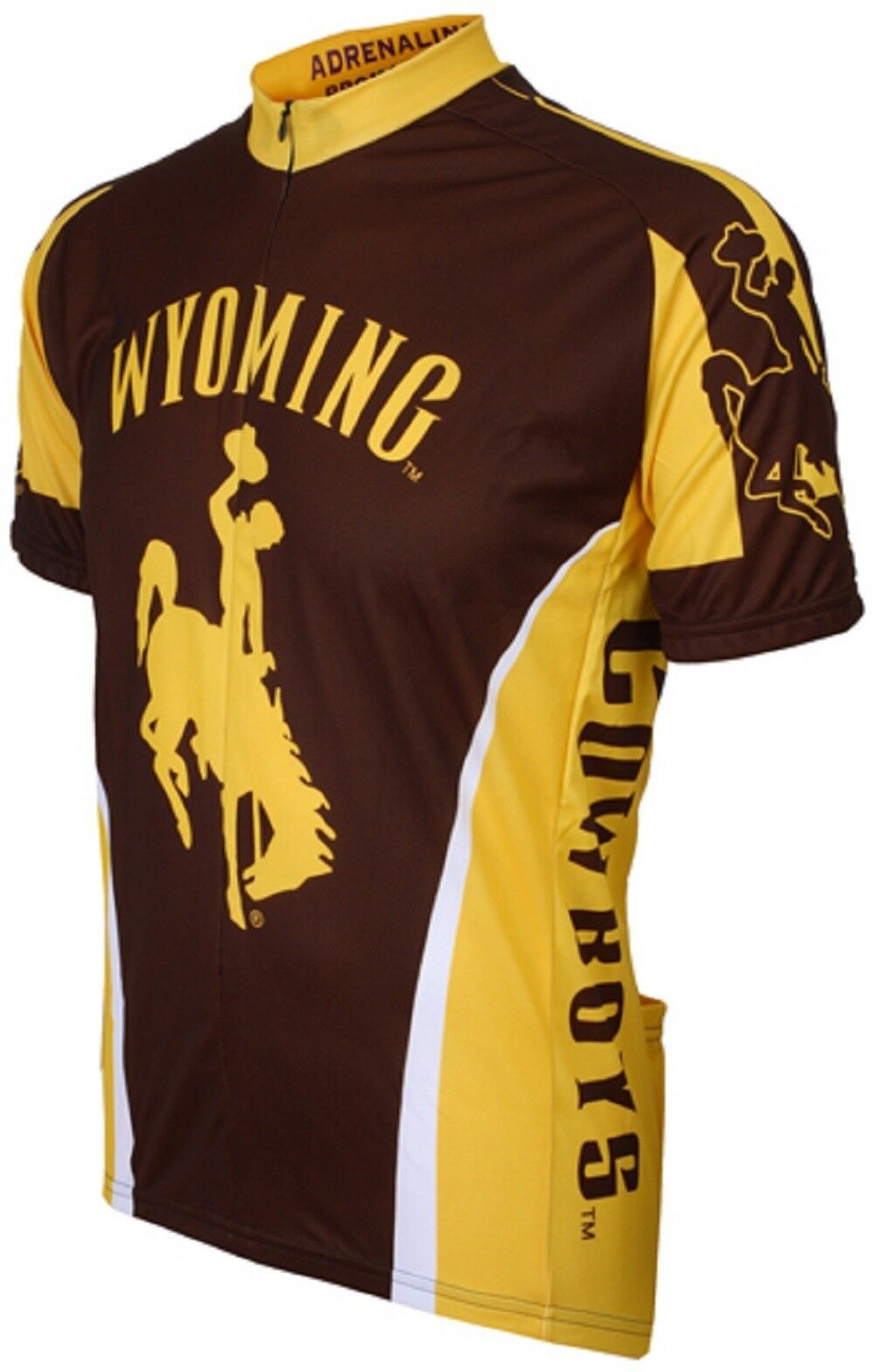 NCAA Men's Adrenaline Promotions Wyoming Cowboys Bike Jersey
